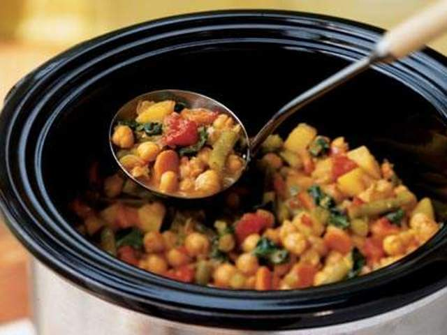 Vegetable Curry with Chickpea in a Crock Pot Photo 4