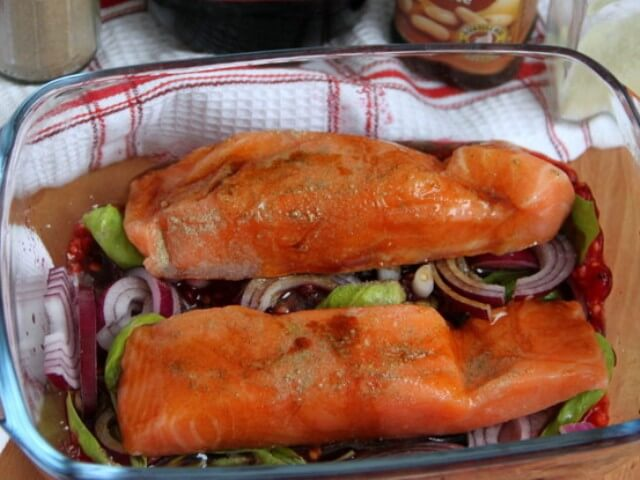 Salmon in the Red Currant Marinade Photo 4