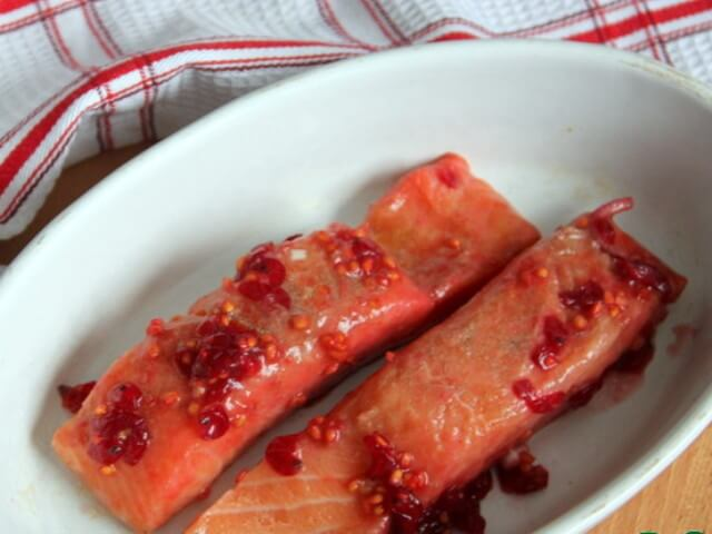 Salmon in the Red Currant Marinade Photo 6