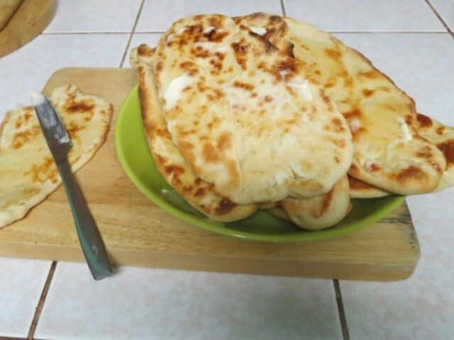 barbeque naan bread