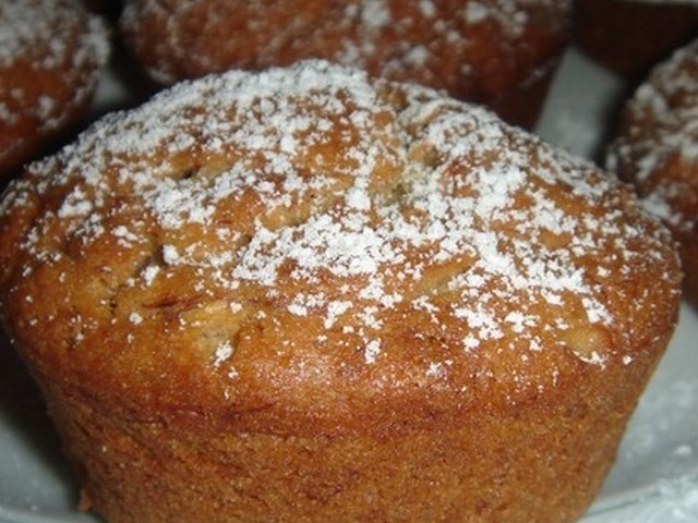 Banana Muffins with Corn Meal