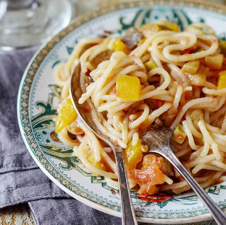 Healthy Lunch - Pasta with Vegetables