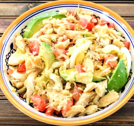 Codfish Salad with Green Bananas