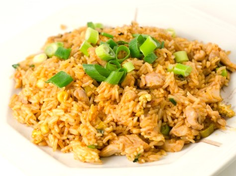 Rice with Chicken Fillet, Carrot and Onion