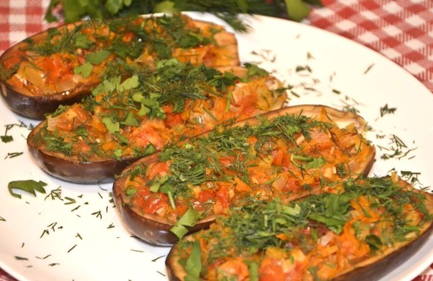 Vegetarian Stuffed Eggplant