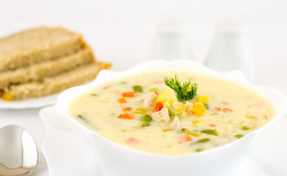 Healthy Chicken Soup with Cream