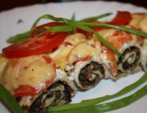 Mushroom Appetizer with Cottage Cheese