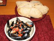 mussels in the beer broth