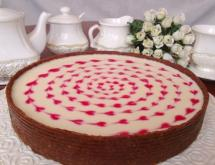 A Cheesecake with Marshmallow Cream without Baking