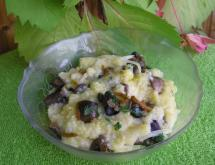 Maize Porridge with Fried Mushrooms in a Crock Pot