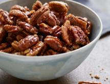 Sweet, Spicy, Salty Candied Pecans