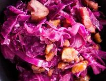 red cabbage with chestnuts