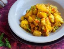indian style cauliflower and potatoes