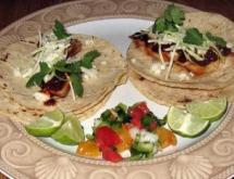 grilled turkey tacos with the mole sauce