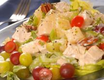 Healthy Chicken Salad Recipe with Orange and Grapes