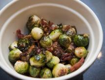 Baked Brussels Sprout with Ham