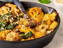 Cauliflower with Spinach and Almonds