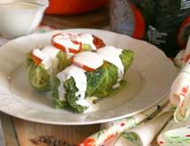 Stuffed Cabbage with Meat and Lentil