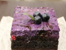 Cream Cheese Brownies with Wild Berries