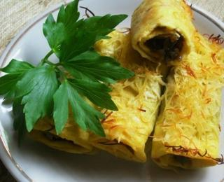 Egg Rolls with Mushrooms