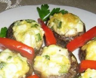 Hot Stuffed Mushrooms