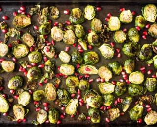 roasted brussels sprouts with pomegranate syrup