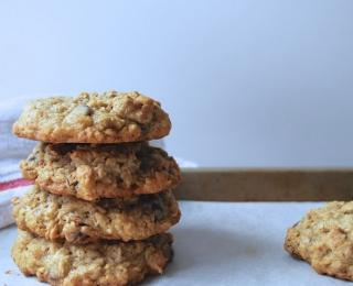Oatflakes Cookies with Chocolate Chips