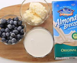 Step 1 - Blueberry Milkshake Recipe