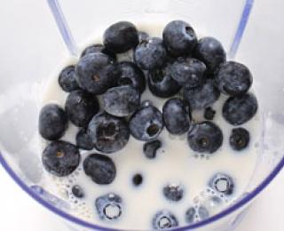 Step 3 - Blueberry Milkshake Recipe