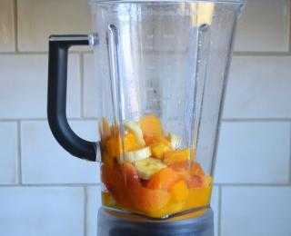 Step 2 - Peach Mango Smoothies