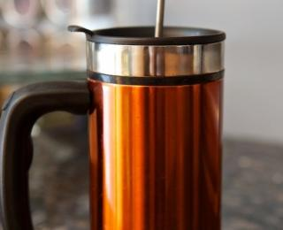 cold brew coffee in a french press