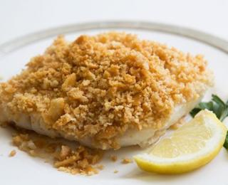 step 4 - baked cod with ritz cracker topping