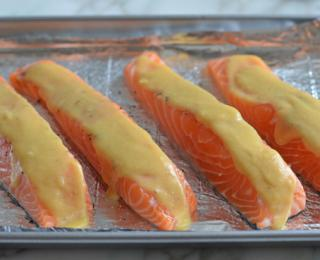 Step 4 - Baked Salmon with Honey Mustard