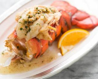 lobster tail with hazelnut brown butter sauce