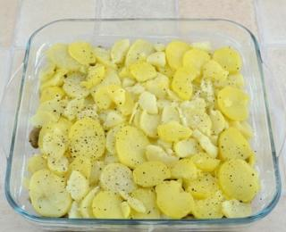 step 12 - Healthy Potato Casserole with Mushrooms