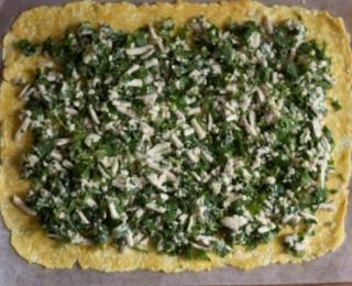 cheese and parsley indian pastry