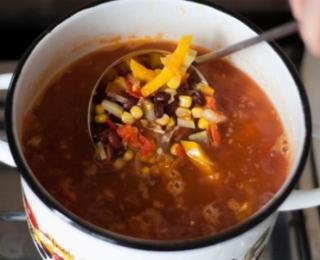 mexican style vegan soup