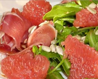 ham with rocket salad