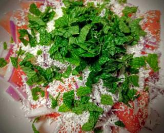 Step 4 - Watermelon Feta Salad Recipe