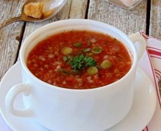 cold tomato buckwheat soup