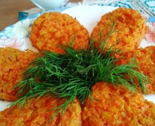 Vegan Carrot Patties with Bran