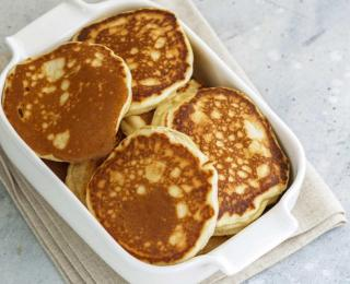 Vegan Pancakes  with Maple Syrup