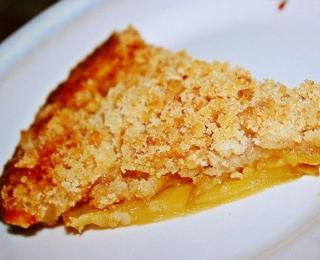 Apple Crisp Pie with Orange Juice