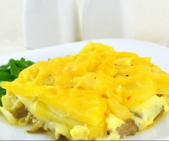 Healthy Potato Casserole with Mushrooms