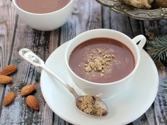 hot chocolate with halva