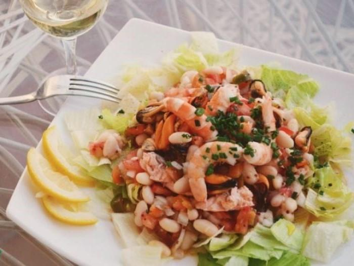 Seafood Salad with White Beans