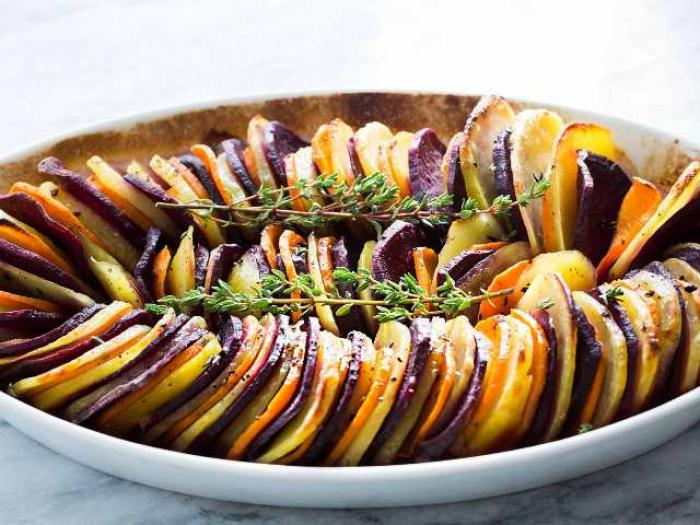 sweet potato and yukon gold bake