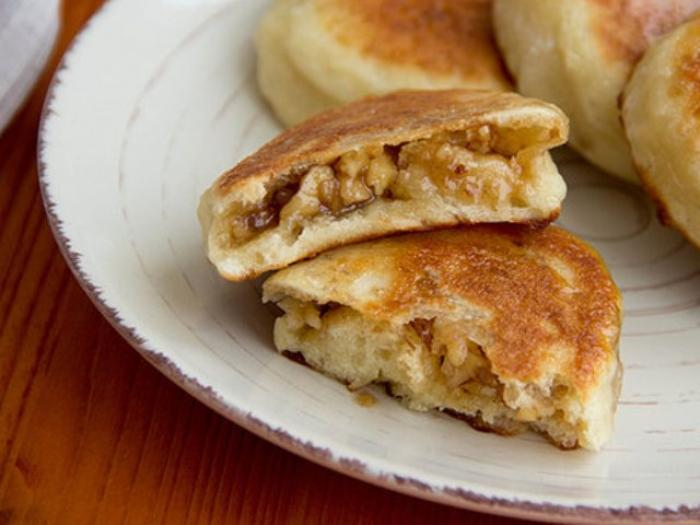 Korean Pancakes with Sweet Topping